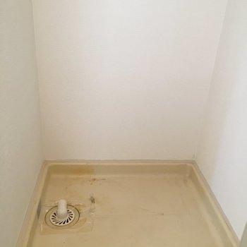 洗濯機置場は扉で隠せます!※写真は4階の反転間取り別部屋のものです