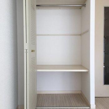 たっぷりはいる収納スペースあります。※写真は4階の反転間取り別部屋のものです