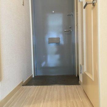 寒色で落ち着きがあります。※写真は4階の反転間取り別部屋のものです