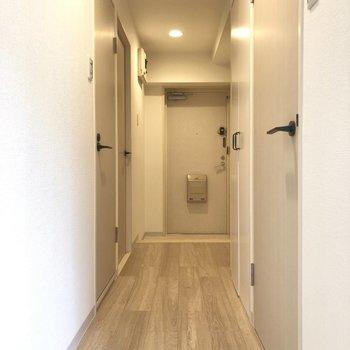 廊下もお部屋同様優しい雰囲気があります。