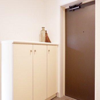 ゆとりある玄関スペース※家具・雑貨はサンプルです