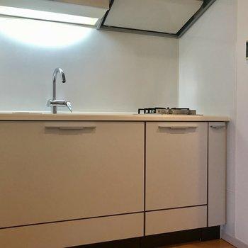 キッチンはシンプルながらサイズは結構あります。