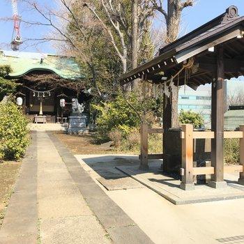 近くにあった正八幡神社