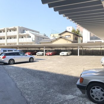 大きな駐車場