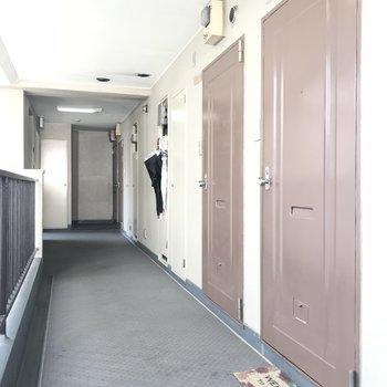 玄関扉と共用部