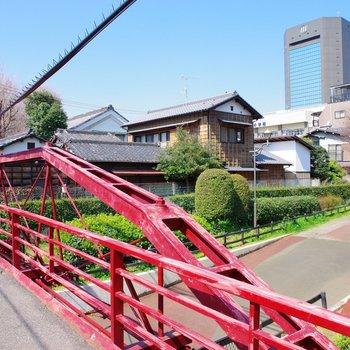 橋から見える八幡堀遊歩道