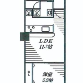 ※4階の似た間取り(ワンルーム)のものとなります。オープンキッチンが嬉しいな