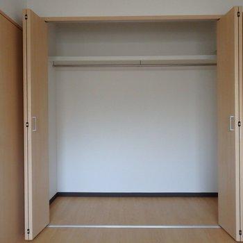 寝室の収納はなかなかの容量※写真は別部屋