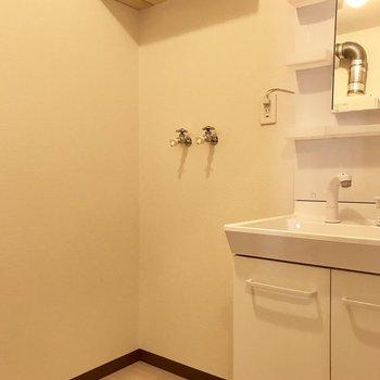 隣には洗濯機スペースも※写真は別部屋のものです