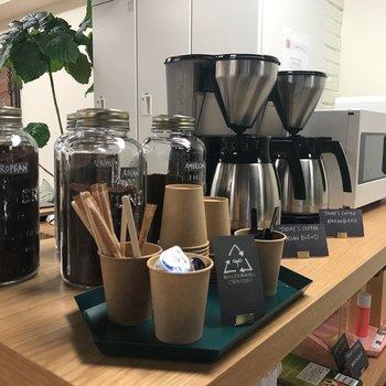 コーヒーの種類も豊富です