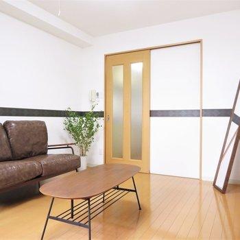 家具を置いても狭く感じないですね ※写真は1階反転間取り別部屋のものです