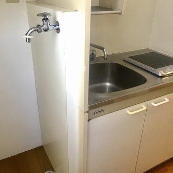 洗濯機がおけます