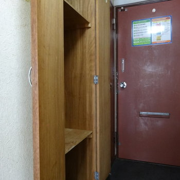 玄関横に収納スペース!収納グッズを入れて上手にしまって♬※写真は2階の同間取り別部屋のものです