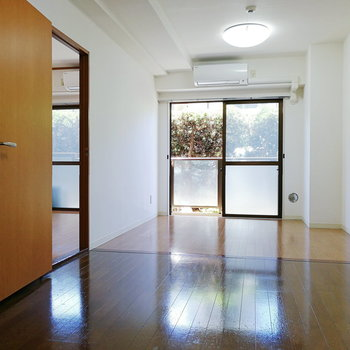お隣の洋室とはシンプルな扉でつながっています。
