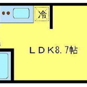 縦長の1LDKです