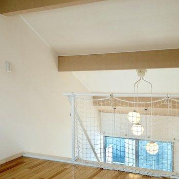 ロフトに上がっても十分に天井が高い!