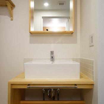 洗面台もTOMOSオリジナル◎※前回募集時の写真です