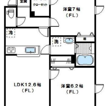 1つは子供部屋、1つは寝室に。収納も豊富なんです。