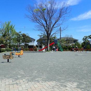 近くには大きな公園もありました。