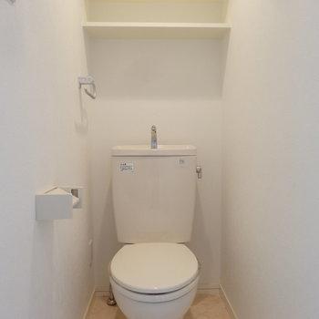 トイレもすっきりキレイ。(※写真は同間取り別部屋のものです)