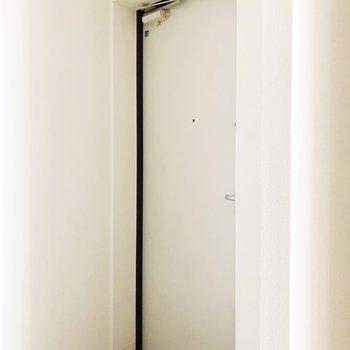 傘立てを置くなら壁際でしょうか