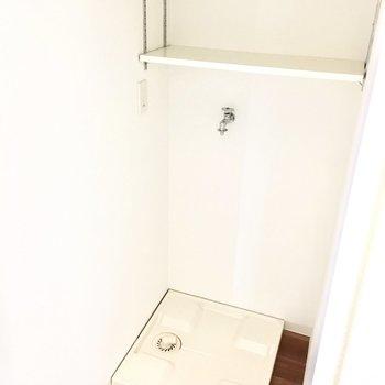 洗濯パンは扉で隠せますよ。