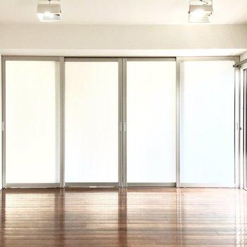 洋室との仕切りはスライドドアなので、、