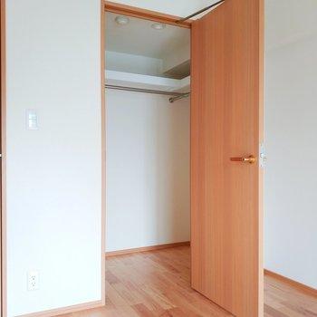 【6.2帖】ウォークインクローゼットは衣服も楽々と!※写真は3階の反転間取り別部屋のものです