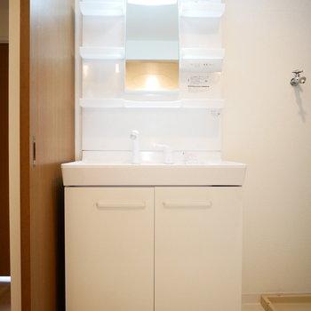 洗面台は新品です!(※写真は前回募集時のものです。)