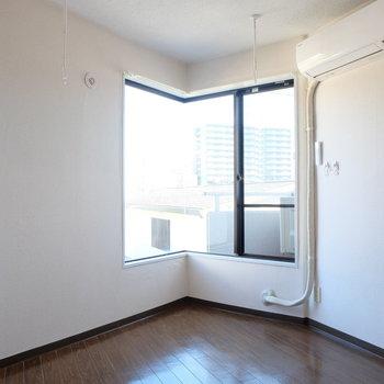 この尖った感じが好き。※写真は3階の同間取り別部屋です