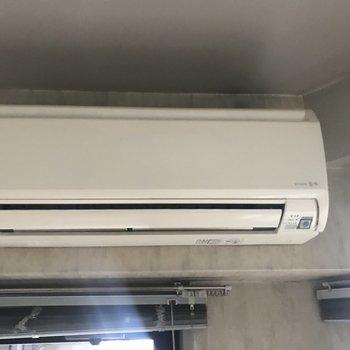 エアコンは既存利用ですがキレイです!※写真は工事前