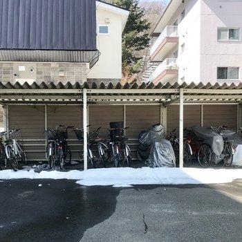 自転車置き場ももちろん!