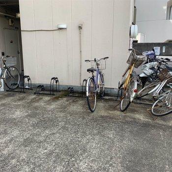 自転車置き場ありますよ〜
