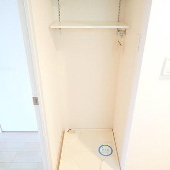 洗濯機は廊下部分にあります。