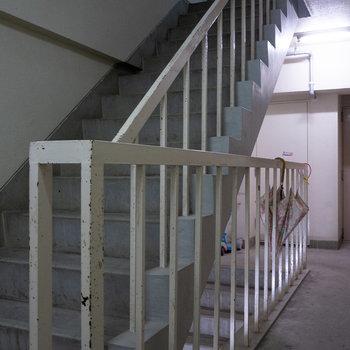 共用部までは階段です。