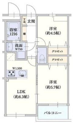 ステディ東大阪太平寺の間取り図