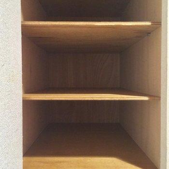 奥行きもあるんです※写真は3階の同間取り別部屋のものです