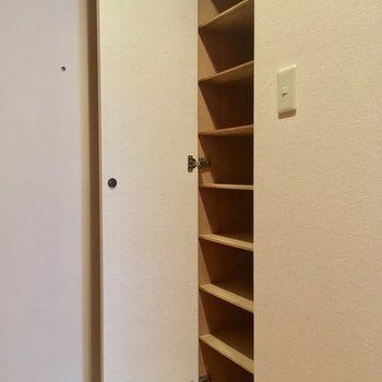 シューズボックスはしっかり!※写真は3階の同間取り別部屋のものです