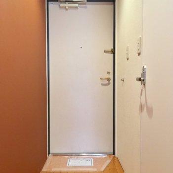 玄関は、土間スペースがコンパクト※写真は3階の同間取り別部屋のものです