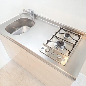 調理スペースをがっちり確保。