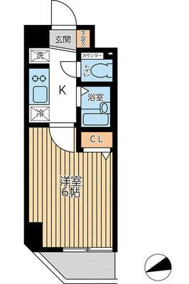 レジディア船橋4 (旧称ASプレミアム湊の間取り図