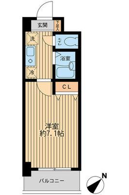 レジディア浦安2の間取り図
