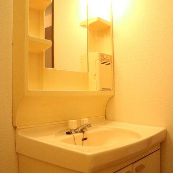 やっぱり独立洗面台がいいですよね。※写真は1階同間取り別部屋のものです
