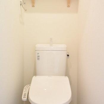 トイレは嬉しいウォシュレットつきです!
