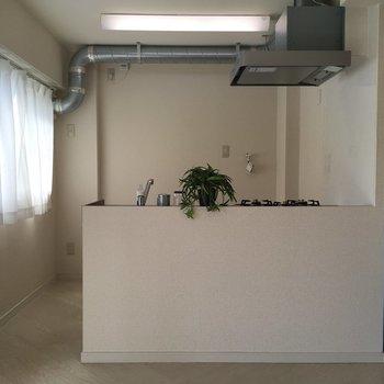 キッチンは対面式でおしゃれな雰囲気