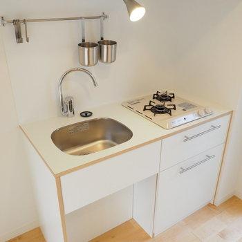 【イメージ】キッチンはコンパクトながらしっかり2口!