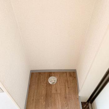 玄関横に洗濯機置き場。
