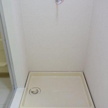 洗濯機置き場はもちろん室内に