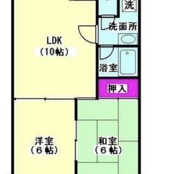 和室と洋室が一部屋ずつあります。
