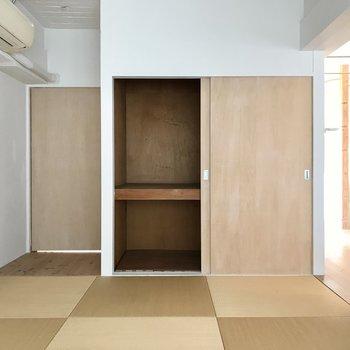 琉球畳でお洒落。収納もありますよ!
